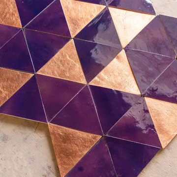 Triangle equilateral, Colours: copper+1069