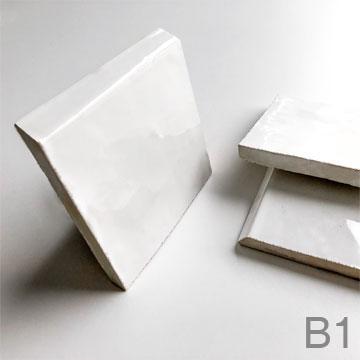 B1 - Zellige 10x10, 1 bevelled edge and glazed