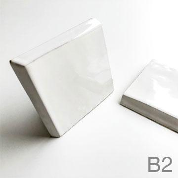 B2 - Zellige 10x10, 2 bevelled edge and glazed