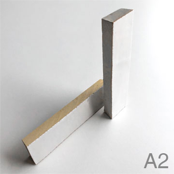 A3 - Zellige edging piece with glazed bevelled edges, for worktop finish.