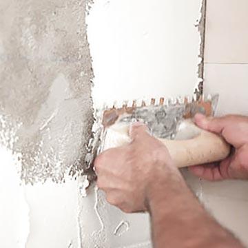 Aplicar en la pared y en la parte posterior de las baldosas Zellige.